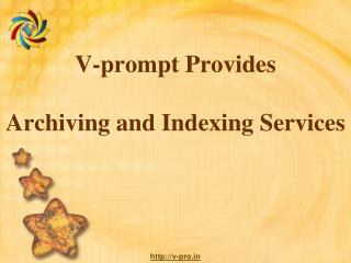 V-prompt Provides Archiving and Indexing Services