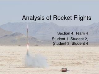 Analysis of Rocket Flights
