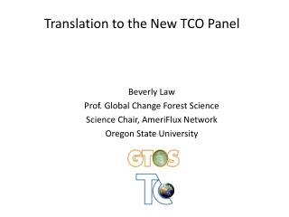 Translation to the New TCO Panel
