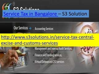 Service tax in Bangalore- S3 Solution