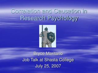 Correlation and Causation in Research Psychology