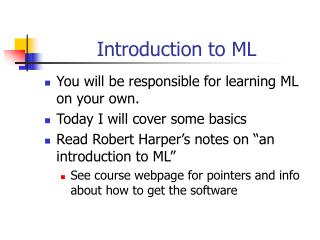 Introduction to ML
