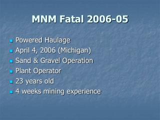 MNM Fatal 2006-05