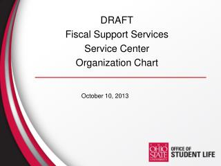 DRAFT Fiscal Support Services Service Center  Organization Chart