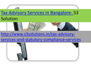 Tax Advisory Services  in Bangalore-S3 Solution