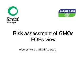Risk assessment of GMOs FOEs view