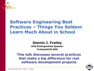 Software Engineering Best Practices – Things You Seldom Learn Much About in School