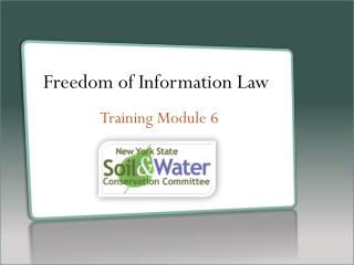 Freedom of Information Law