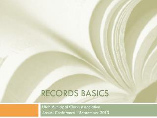 Records basics