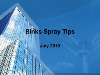 Binks Spray Tips