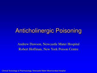 Anticholinergic Poisoning