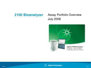 2100 Bioanalyzer