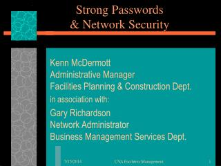 Strong Passwords & Network Security