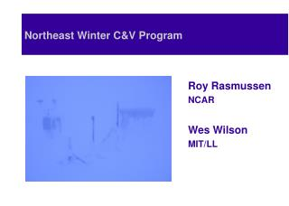 Northeast Winter C&V Program