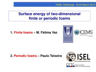 Surface energy of two-dimensional finite or periodic foams