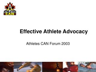 Effective Athlete Advocacy