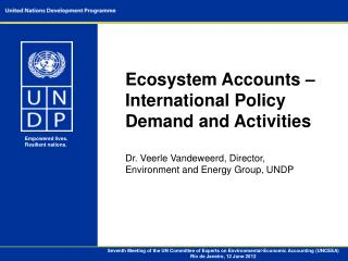Seventh Meeting of the UN Committee of Experts on Environmental-Economic Accounting (UNCEEA) Rio de Janeiro, 12 June 201