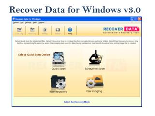 Recover Data for Windows Data Recovery