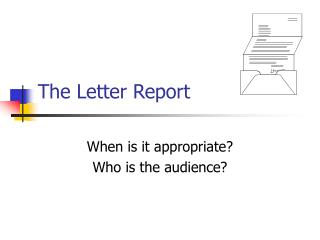 The Letter Report