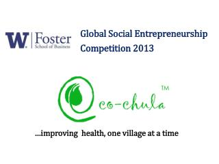 Global Social  Entrepreneurship Competition 2013