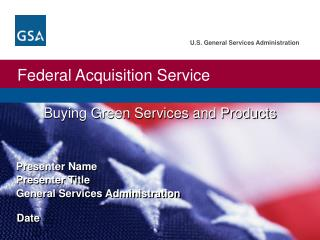 Buying Green Services and Products