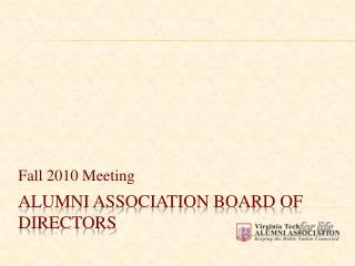 Alumni Association Board of Directors