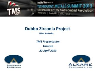 TMS Presentation Toronto  22 April 2013
