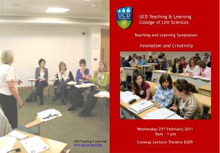UCD Teaching & Learning   College of Life Sciences
