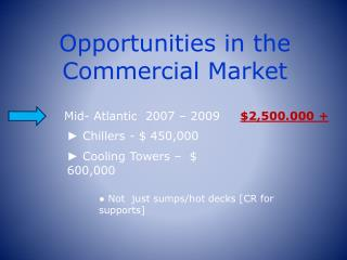 Opportunities in the Commercial Market