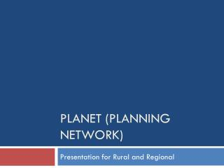 PLANET (Planning Network)