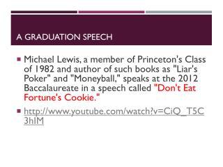 A Graduation Speech