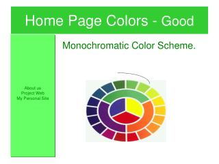 Home Page Colors -  Good