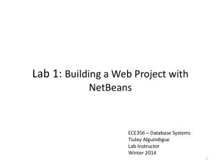 Lab 1:  Building  a Web Project with  NetBeans