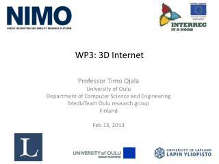 WP3: 3D Internet