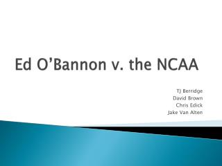 Ed O'Bannon v. the NCAA