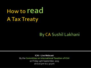 How to  read A Tax Treaty