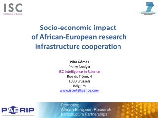 Socio-economic  impact of African-European research infrastructure cooperation