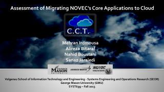 Assessment of Migrating NOVEC's Core Applications to Cloud