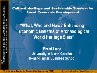 Cultural Heritage and Sustainable Tourism for Local Economic Development