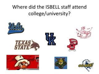 Where did the ISBELL staff attend college/university?