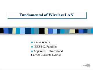 Fundamental of Wireless LAN