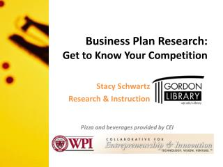 Business Plan Research:  Get  to Know Your Competition