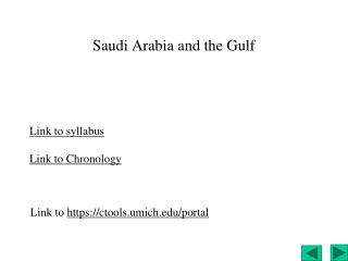 Saudi  Arabia and the Gulf
