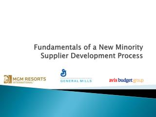Fundamentals of a New Minority Supplier Development Process