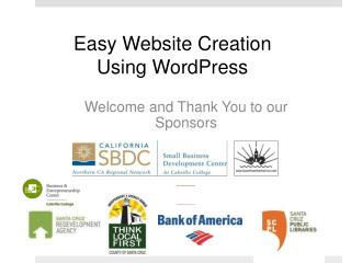 Easy Website Creation  Using WordPress