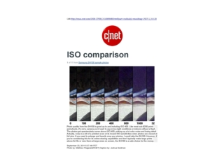 Samsung SH100 ISO comparison (Cnet)