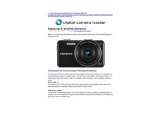 Samsung ST95 [With Reviews] (Digital Camera Tracker)