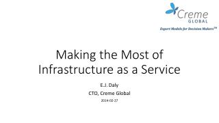 Making the Most of Infrastructure as a Service