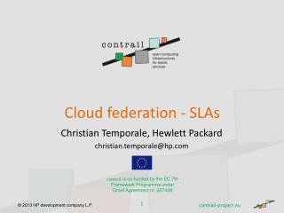 Cloud federation - SLAs