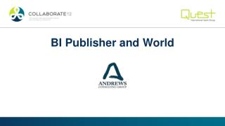 BI Publisher and World